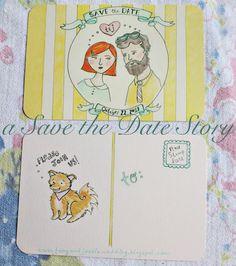 Handmade Save-The-Date Postcards