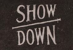 Show Down logo for AIGA NM, Jesse Ameson
