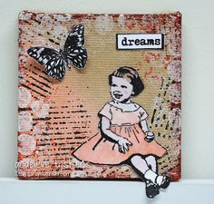 StampingMathilda: Mini Canvas - Dreams