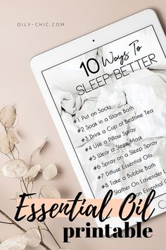 Print this Essential Oils for Sleep Guide and blank essential oil blending worksheets from Oily Chic Library Essential Oils For Sleep, Essential Oils Cleaning, Best Essential Oils, Essential Oil Uses, Young Living Essential Oils, Lavender Sleep Spray, Bubble Bath Homemade, Roller Bottle Recipes, Chamomile Essential Oil