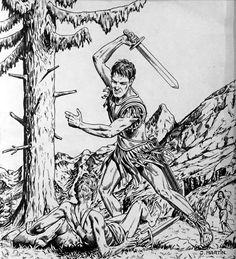 Martin, Jacques - Couverture originale - Journal Tintin 48 du 25 Novembre 1948 - Alix l'Intrépide - (1948) - W.B.