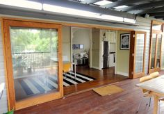 View photos of Timber Sliding Doors by Allkind Joinery. Your Prestige Timber Joinery. Timber Sliding Doors, Sliding French Doors, Timber Door, French Doors Patio, Patio Doors, Sliding Glass Door, Sliding Windows, Barn Door Cabinet, Glass Cabinet Doors