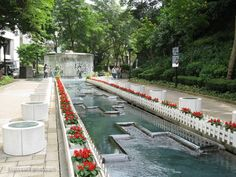 Discover the world through photos. Fountain Plaza, Hong Kong, Sidewalk, Field Trips, Landscape, Park, World, Places, Outdoor Decor