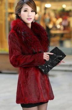 4cd482d6ce8 Plus Size Women Long Slim Mink Fur Jacket Winter Female Black Hooded Thick  Fur Outwear manteau fourrure femme 2015