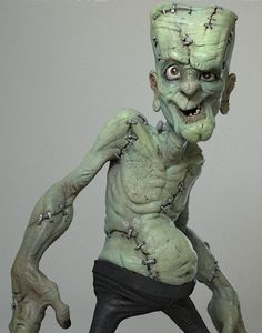 Frankie, by Michael Milano using Zbrush. This is such a great Image of the Frankenstein vision . 3d Character, Character Design, Frankenstein Art, Arte Black, Clay Monsters, Modelos 3d, Classic Monsters, Arte Horror, 3d Models