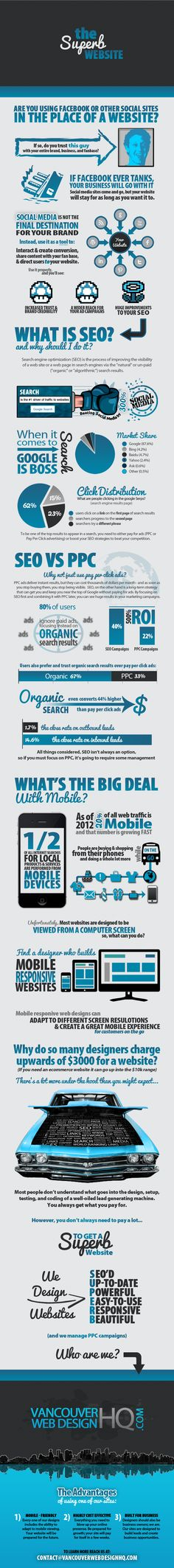 Superb Web Design infographic
