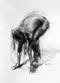 """This charcoal drawing is by California-based artist Zin Lim and titled """"Figure You can view more of Zin's work through Saatchi Art. Images courtesy of Zin Lim Male Figure Drawing, Figure Drawing Reference, Life Drawing, Figure Drawings, Figure Painting, Painting & Drawing, Art Sketches, Art Drawings, Plan Image"""