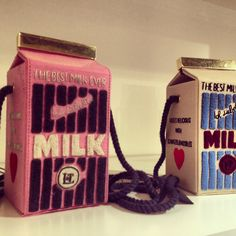 These handmade Japanese milk shaped bags are over than $1000... Tokyo, Japan