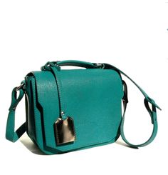 cute blue-green leather bag