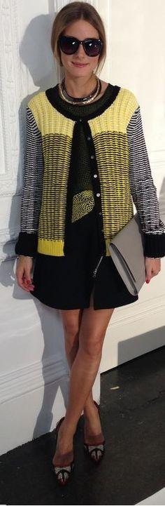 Sweater and skirt – Markus Lupfer  Shoes – Manolo Blahnik  Sunglasses- Witchery  Purse – Smythson  Shirt – Tibi