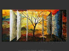 """Parallels Of Life"" - Original Landscape Art by Lena Karpinsky, http://www.artbylena.com/original-painting/20795/parallels-of-life.html"