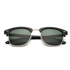 CHB Men's Women's Classic HD Mirrored Wayfarer Lens Metal Frame Street Fashion Designer Polarized Sunglasses UV400 with Case - $14.98 : www.chb.us.com
