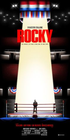 "Salvador Anguiano Goes For The Knockout Punch With His ""Rocky"" Prints – Poster Posse Sylvester Stallone, Cinema Posters, Film Posters, Rocky Balboa Poster, Rocky Poster, Rocky Stallone, Stallone Movies, Carl Weathers, Tv"