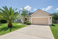 1319 N. Kyle Way St. Johns, FL 32259 This beautiful 4 bedroom, 2 bathroom home features 2,114 sq feet of living space & is a must see! The kitchen is equipped with two closet pantries, a breakfast bar, and oak cabinets. The master bedroom is a corner bedroom creating its own privacy while also having a garden tub in the master bathroom. Outside of the home is a large pool and an oversized patio!  For more information on pricing and showings call (904) 280-3000.