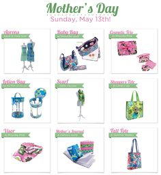 New Vera for Mother's Day! & a FREE gift for YOU with a 65 dollar Vera Bradley purchase! :) Starting today, while supplies last! Find out more on our blog! http://reedsjenssrocks.com/?p=323