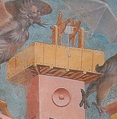 roof top winch from Allegory of Good Government by Ambrogio Lorenzetti Palazzo Pubblico Siena Italy 1338-39