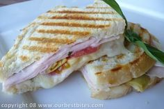 Smoked Turkey and Artichoke Panini... Who needs Zupas?    I eat way too many sandwiches... this looks like a fun new one... I would have killed for one of these in Uganda!  All I wanted was bowl of cold cereal or a turkey sandwich... or maybe a hot chocolate chip cookie :)