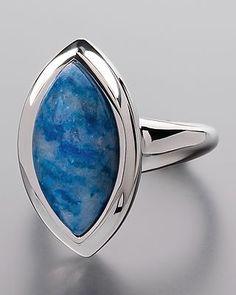 Lazurite silver ring