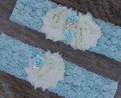 Bridal garter set, something blue!