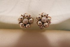 vintage clip on earrings beads by TimesTwoBoutique on Etsy, $18.00