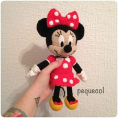 Image gallery – Page 545498573614360151 – Artofit Minnie Mouse Gifts, Crochet Mickey Mouse, Minnie Mouse Doll, Disney Crochet Patterns, Crochet Animal Patterns, Yarn Projects, Crochet Projects, Crochet Eyes, Valentines For Kids