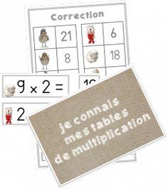 Id en vrac pour l 39 cole pour m moriser les tables de - Apprendre tables de multiplication en jouant ...