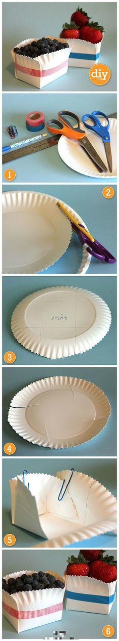 Cantinho craft da Nana: Embalagem com prato de papel