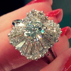 aaaaand DROOL! How AMAZING is this 1930's ballerina style diamond ring. The sparkle is just phenomenal! Found by Becky at an Antique Market and designed by Beverly Losacco of Bebi Pearls & Estate Jewellery.