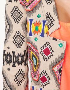 Bershka United Kingdom - Bershka ethnic embroidery blazer