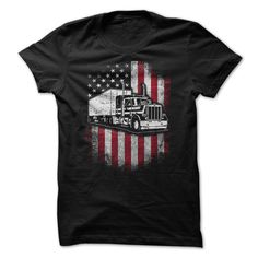 TRUCKERIf you are a trucker - then this is perfect for you to wear!truck, usa, america, american, car, big, trucking, trucker, flag, drive, driver