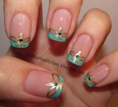 Princess Jasmine-inspired French manicure. I'm kind of obsessed with this.