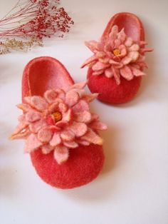 cute felted slippers