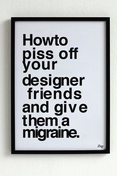 Made me laugh::Sacrilege in Helvetica Bold by Zag