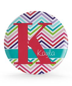 Take a look at the Zigzag Initial Personalized Plate on #zulily today!