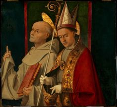 Bernardino and a Holy Bishop by Bartolomeo Montagna ca. A work from the collections of the de Young and Legion of Honor museums of San Francisco, CA. Andrea Mantegna, Giovanni Bellini, Legion Of Honour, Italian Painters, 15th Century, Verona, Holi, Princess Zelda, Siena