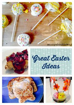 Fun and Easy ideas for Easter including recipes, treats and crafts!