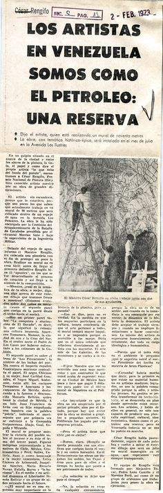Entrevista a César Rengifo. Publicada el 2 de febrero de 1973