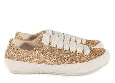 Parson, 'phat' lace glitter sneaker in gold glitter I Pedro Garcia shoes I Fall Winter 2015 2016 I Made in Spain