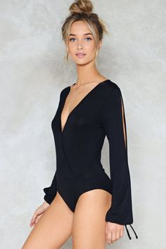 Get Your Slit Together Bodysuit Shop Clothes At Nasty Gal - Dance Leotards Gal Got, Beauté Blonde, Pullover Shirt, Body Suit Outfits, Lace Bodysuit, Plunge Bodysuit, Beautiful Lingerie, Dance Outfits, Fashion Outfits