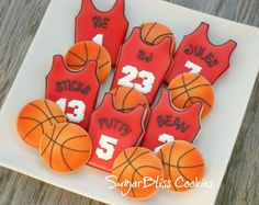 SugarBliss Cookies: SugarBliss Basketball