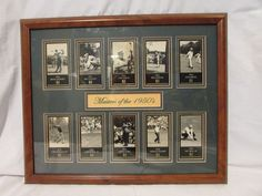 MASTERS CHAMPIONS GOLF CARD SET 1950's FRAMED MATTED COLLAGE Golf Greats!!!!