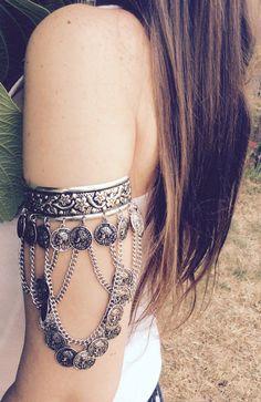 Boho Arm Band Upper Arm Bracelet Upper Arm a Cuff by KARAandKATE
