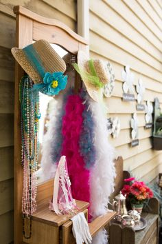 Tea Party Dressup Clothes - Hats, Necklaces, and Feather boas