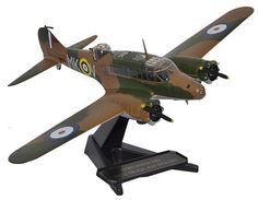 Oxford Diecast 1:72 Avro Anson Diecast Model Airplane 72AA001 This Avro Anson MkI (RAF 500 Sqn Detling 1940) Diecast Model Airplane features working propellers. It is made by Oxford Diecast and is 1:72 scale (approx. 23cm / 9.1in wingspan). The Avro Anson was a British twin-engined aircraft that served with the RAF, Fleet Air Arm and some Commonwealth Air Forces before, during and after WWII. Developed from the Avro 652 airliner, the multi-role Anson Mk I was originally meant for maritime…