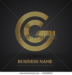 Letter GG linked logo design circle G shape. Elegant gold colored letter symbol. Vector logo design template elements for company identity. - stock vector