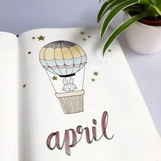 I decided on a cute (Easter)bunny theme for April. It kind of reminds me of a ch… I decided on a cute (Easter)bunny theme for April. It kind of reminds me of a children's book illustration. What theme did you pick for… April Bullet Journal, Bullet Journal Cover Ideas, Bullet Journal Banner, Bullet Journal Notebook, Bullet Journal Themes, Bullet Journal Inspo, Bullet Journal Layout, Journal Ideas, Easy Drawing Tutorial