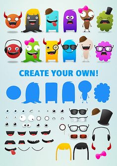 Free Cute Monsters template | Selina Wing - Fun, Blogging, Games and Online Tips for Geeks!
