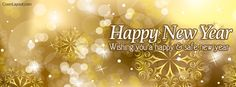Yellow Stars Safe and Happy New Year Facebook Cover CoverLayout.com