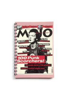 Sid Vicious Notebook  The SEX PISTOLS  Free UK Postage 80 plain pages  Punk Rock Music fan recycled gift idea - pinned by pin4etsy.com