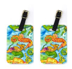 Pair of Seahorse Luggage Tags